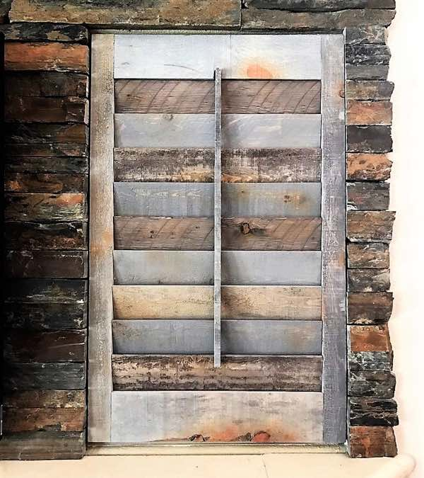 Atlanta recycled wood shutter