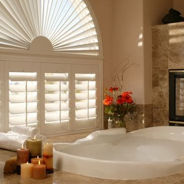 Atlanta bathroom privacy shutters.