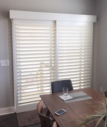 Atlanta chic sliding door shutters