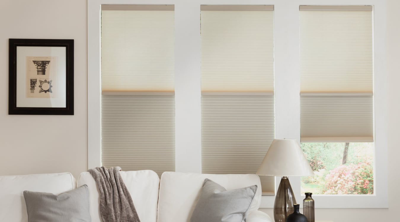 Cellular shades in a Atlanta living room