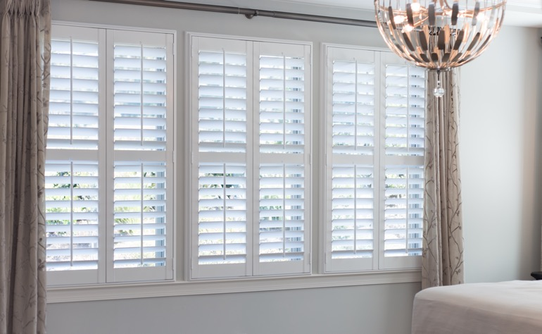 Atlanta plantation shutters bedroom