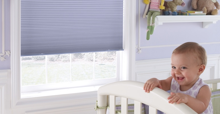 Atlanta infant's nursery with cellular shades.