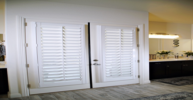 Shutters as an interior door