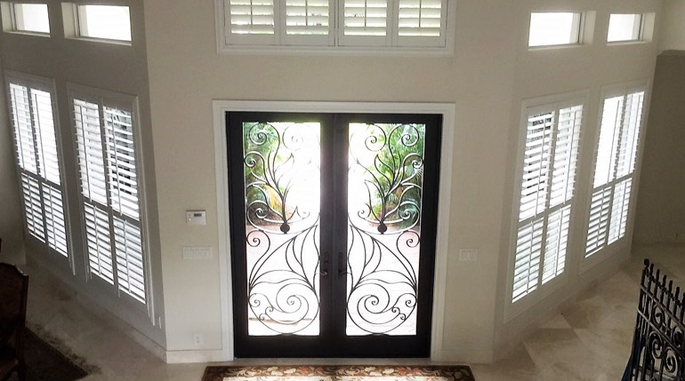Atlanta entryway plantation shutters