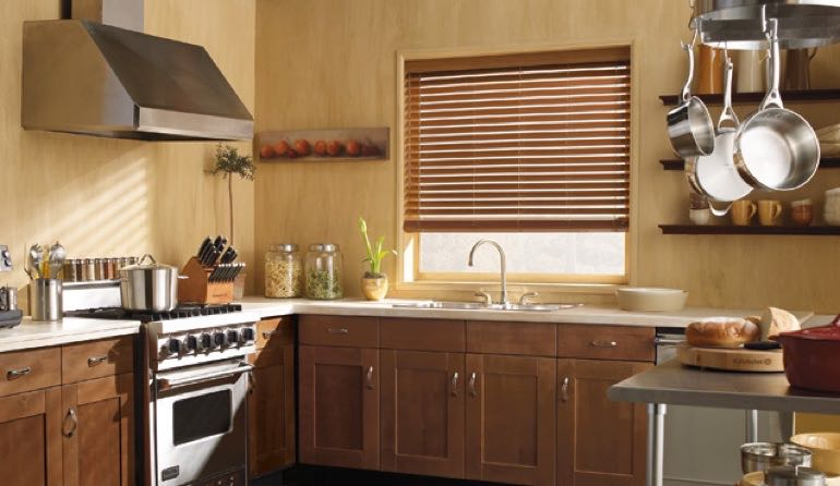 Georgia faux wood blinds kitchen