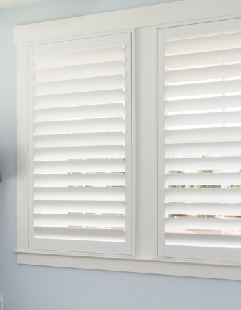 Polywood shutters with hidden tilt rods in Atlanta