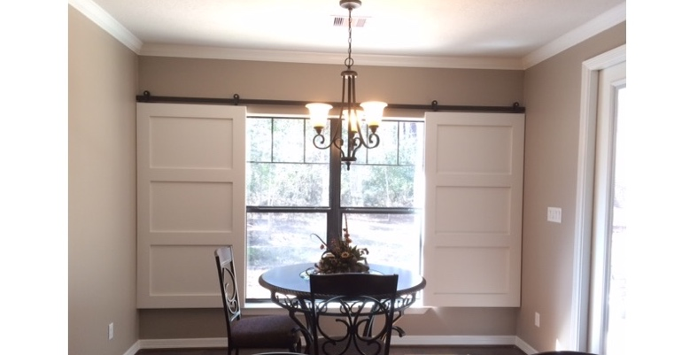 Atlanta barn door shutters