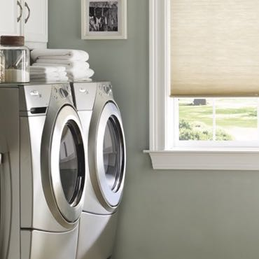 Atlanta laundry room cellular shades.