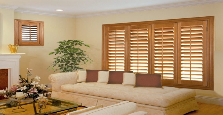 wood shutters Atlanta parlor