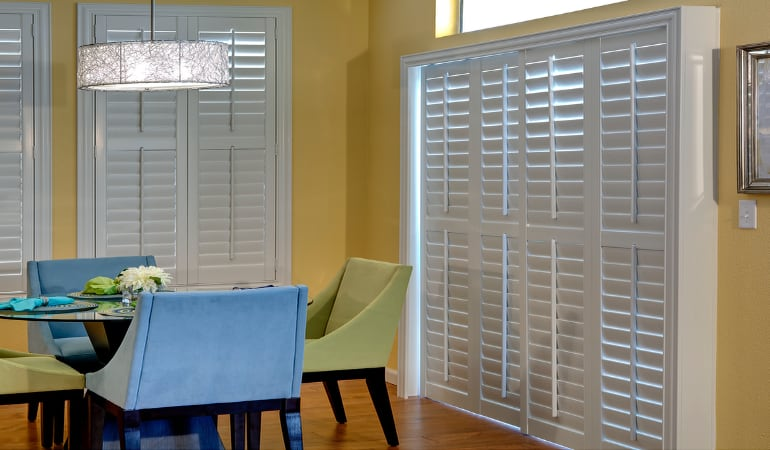 Patio Doors with Plantation Shutters in Atlanta