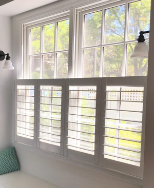 Atlanta faux wood cafe shutters