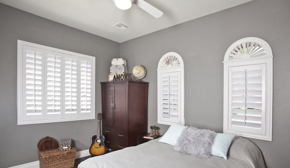 Polywood Shutters In A Atlanta Bedroom