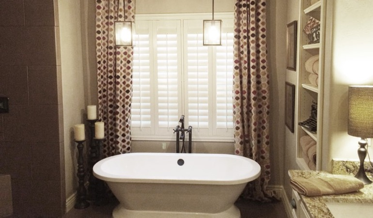 Polywood Shutters in Atlanta Bathroom