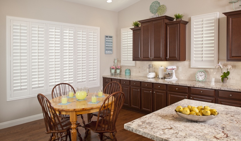 Polywood Shutters in Atlanta kitchen