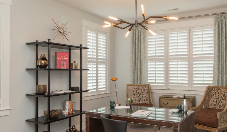 Polywood shutters in an office