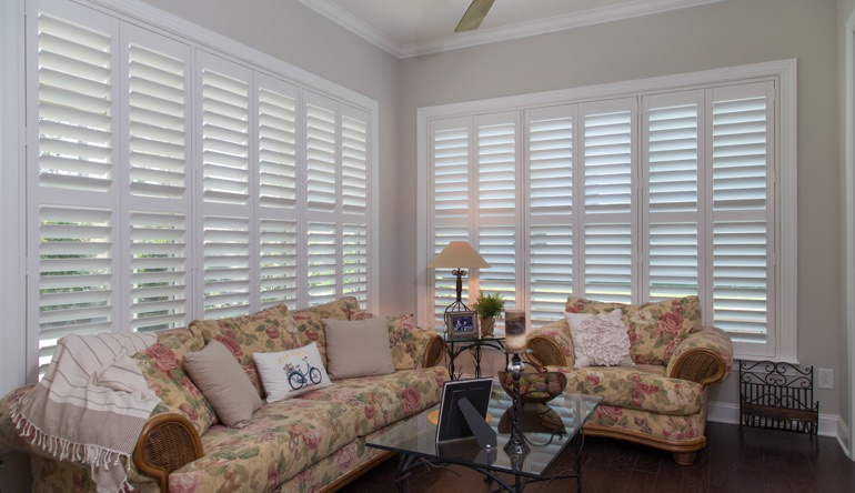 Atlanta sunroom indoor shutters