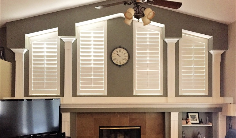 Polywood Shutters in Family Room in Atlanta