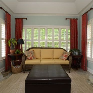 Atlanta sunroom polywood shutters.