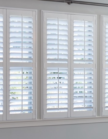 Hidden tilt rod shutters on Atlanta windows