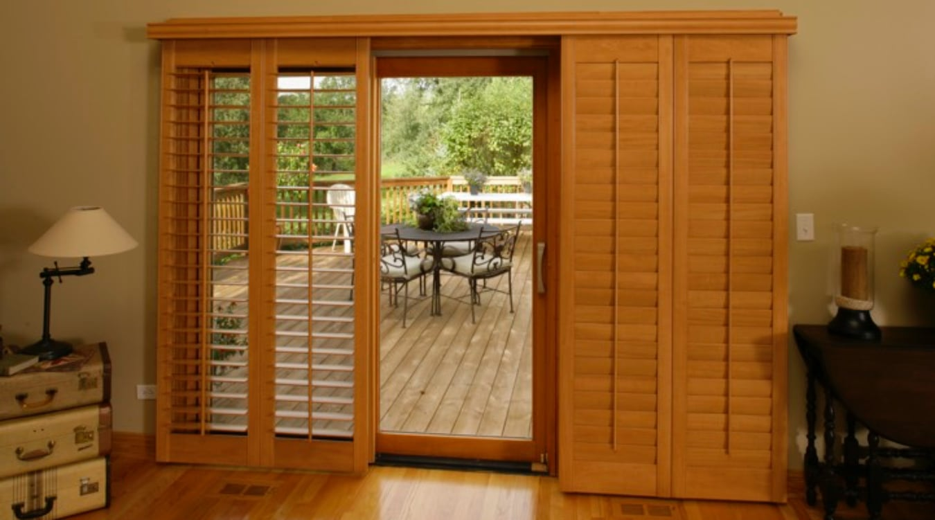 Sliding Glass Door Shutter In Atlanta