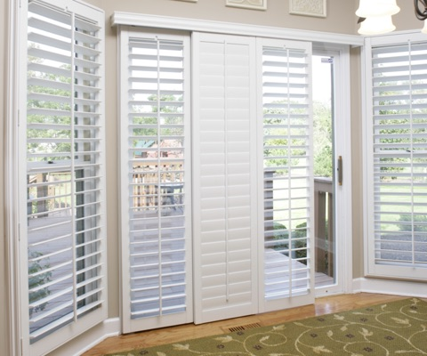 Georgia sliding door shutters