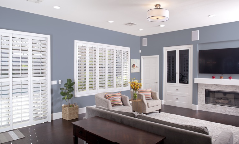 Plantation Shutters In A Atlanta Living Room.