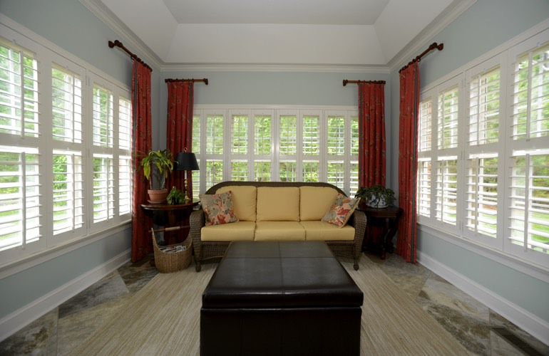 Plantation Shutters In A Atlanta Sunroom